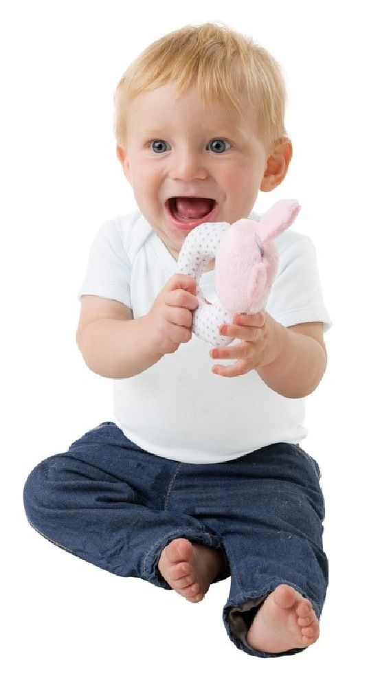 Playgro Rattle Bunny Pink/White image 1