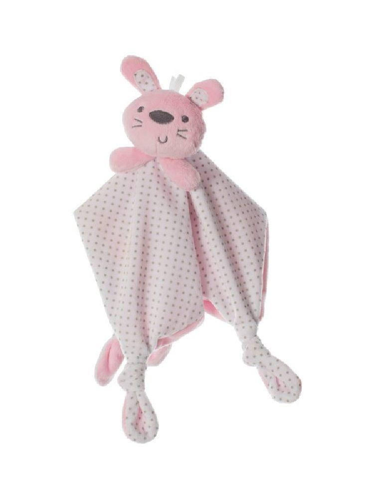 Playgro Comforter Bunny Pink/White
