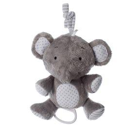 Playgro Musical Pullstring Elephant Grey/White
