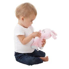 Playgro Musical Pullstring Bunny Pink/White