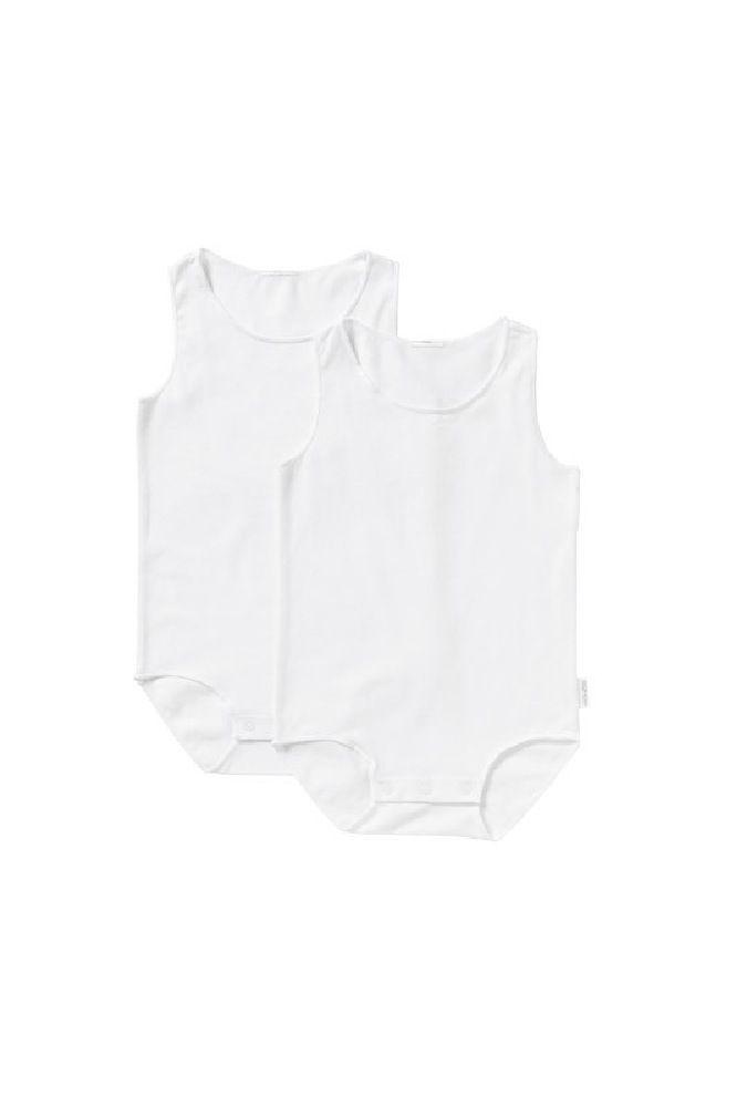Bonds Wonderbodies Singlet Suit White/White 2 Pack image 0