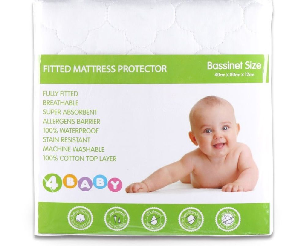 4Baby Quilted Mattress Protector Bassinet image 1