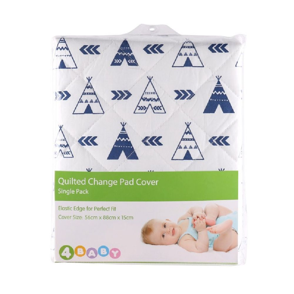 4Baby Quilted Change Pad Cover Teepee