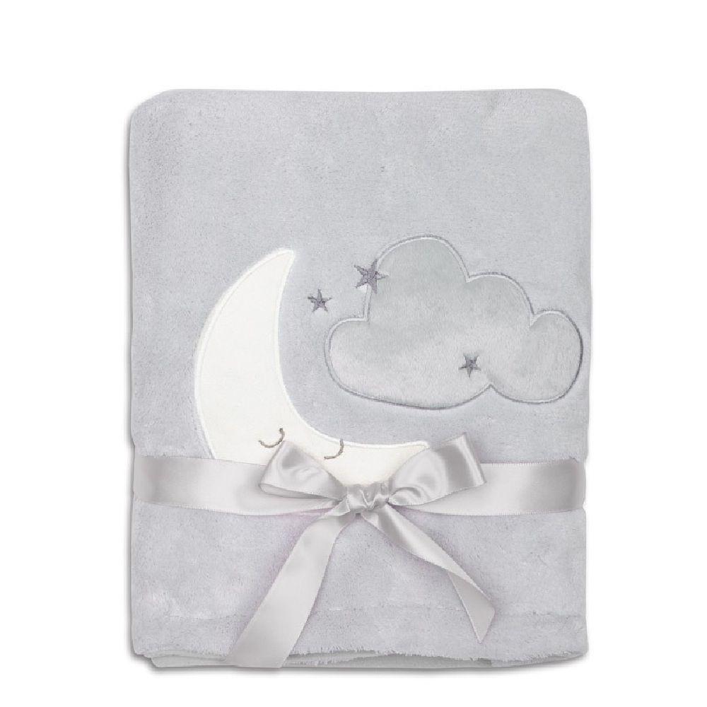 4Baby Fleece Blanket Moon Applique