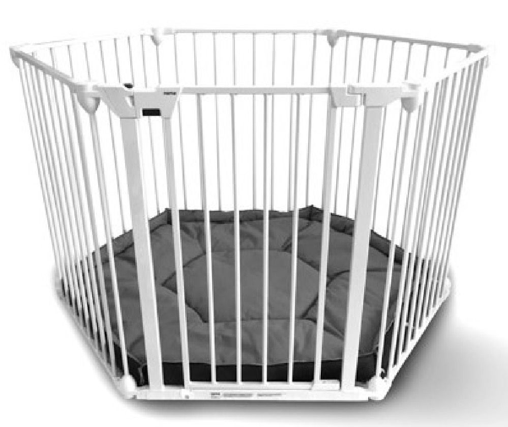 4Baby Noma Playpen Room Divider with Mat and Wall Fix White