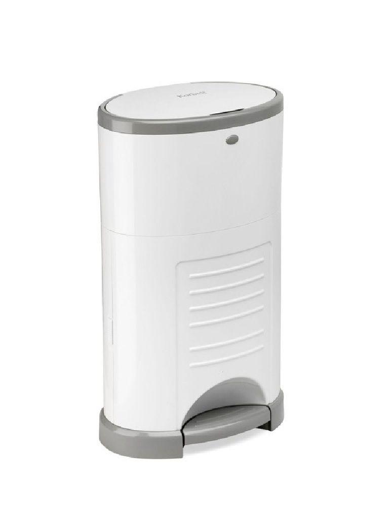 Korbell Nappy Disposal Bin Unit White image 0