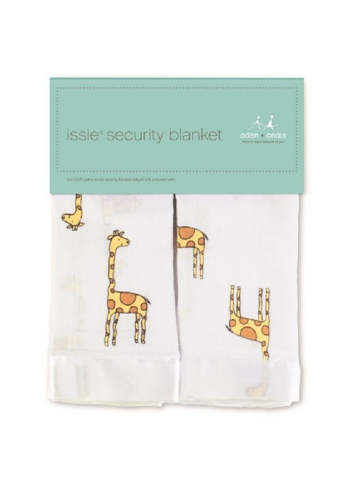 Aden & Anais Issie Security Blanket Giraffe Yellow/Brown 2 Pack