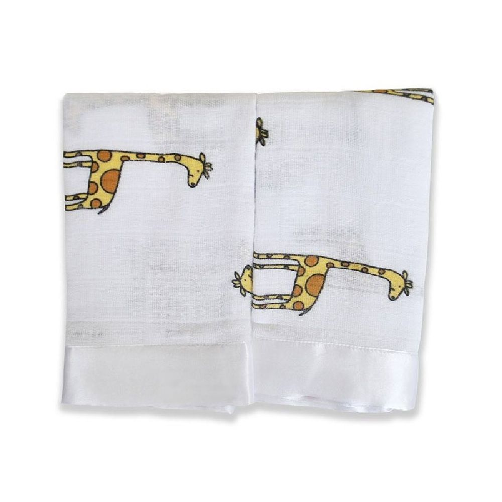 Aden & Anais Issie Security Blanket Giraffe Yellow/Brown 2 Pack image 1