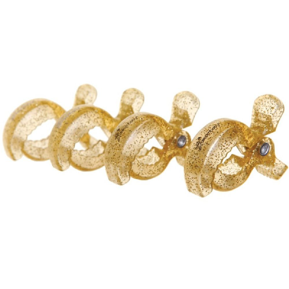 Dream Baby Stroller Clips Gold Glitter 4 Pack image 0