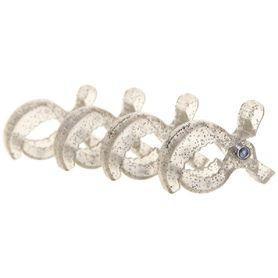 Dream Baby Stroller Clips Silver Glitter 4 Pack