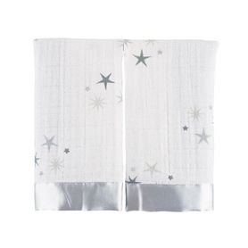 Aden & Anais Security Blankets Twinkle White/Grey 2 Pack