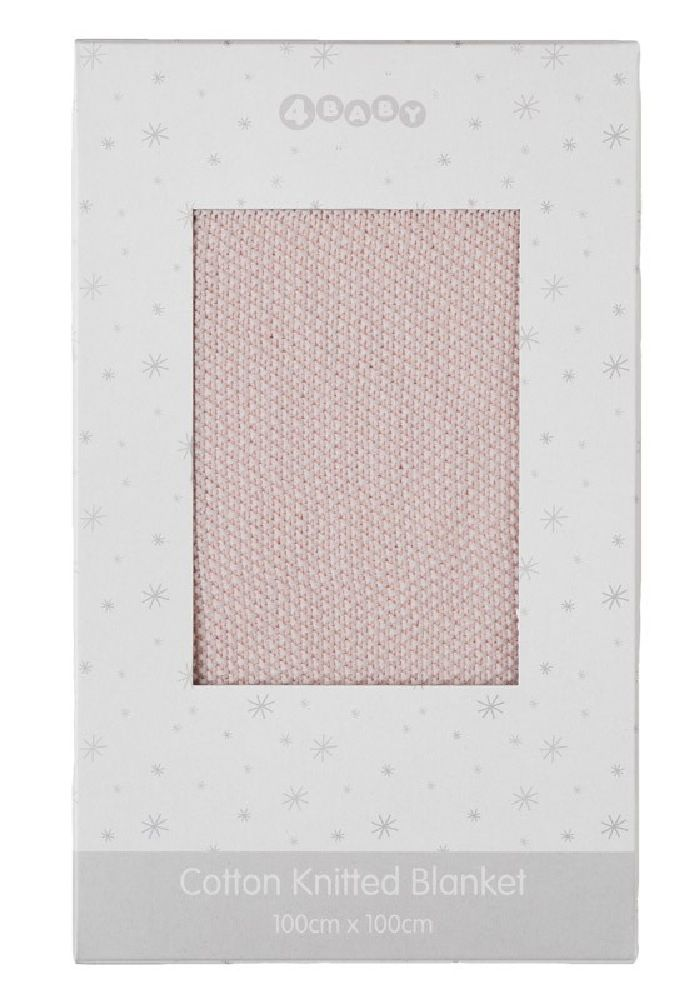 4Baby Moss Stitch Boxed Blanket Pink