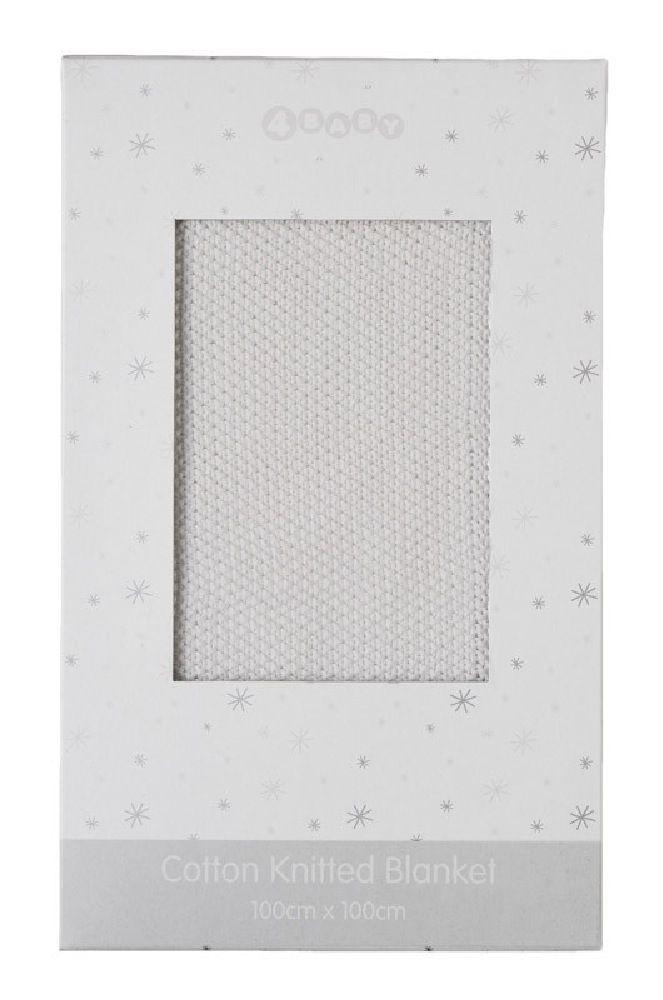 4Baby Moss Stitch Boxed Blanket Milk