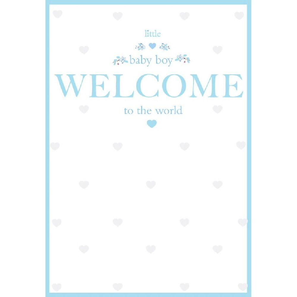Henderson Greetings Card Baby Boy Pizazz Welcome