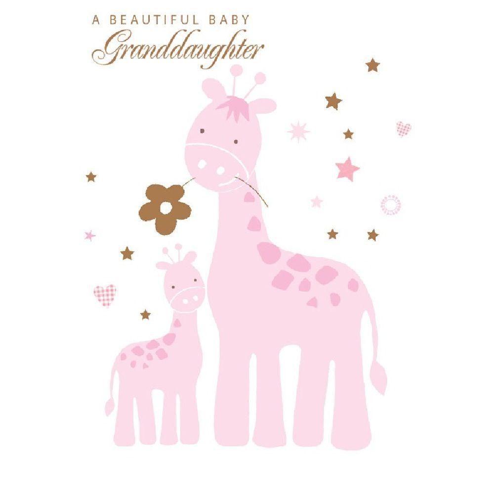 Henderson Greetings Card Granddaughter Pizazz Giraffes image 0