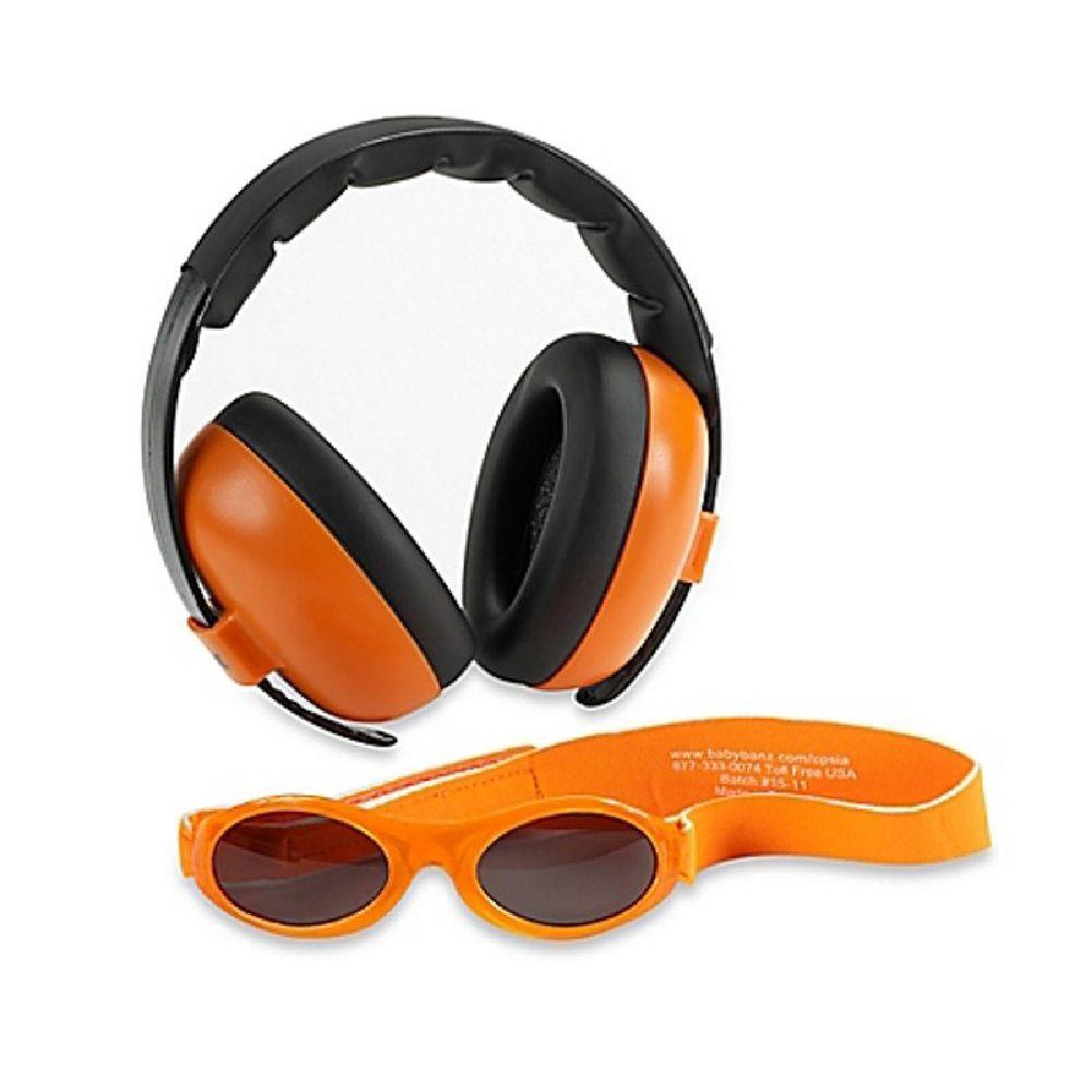 Baby Banz Sunglasses/Earmuff Combo Orange