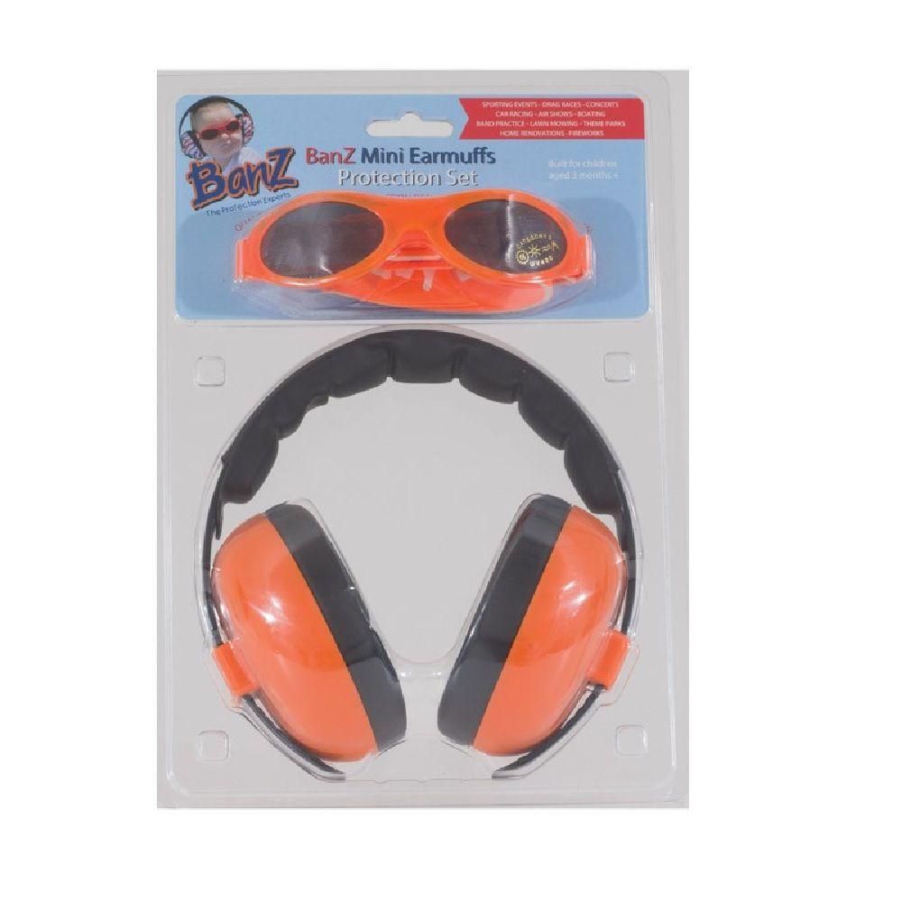 Baby Banz Sunglasses/Earmuff Combo Orange image 1