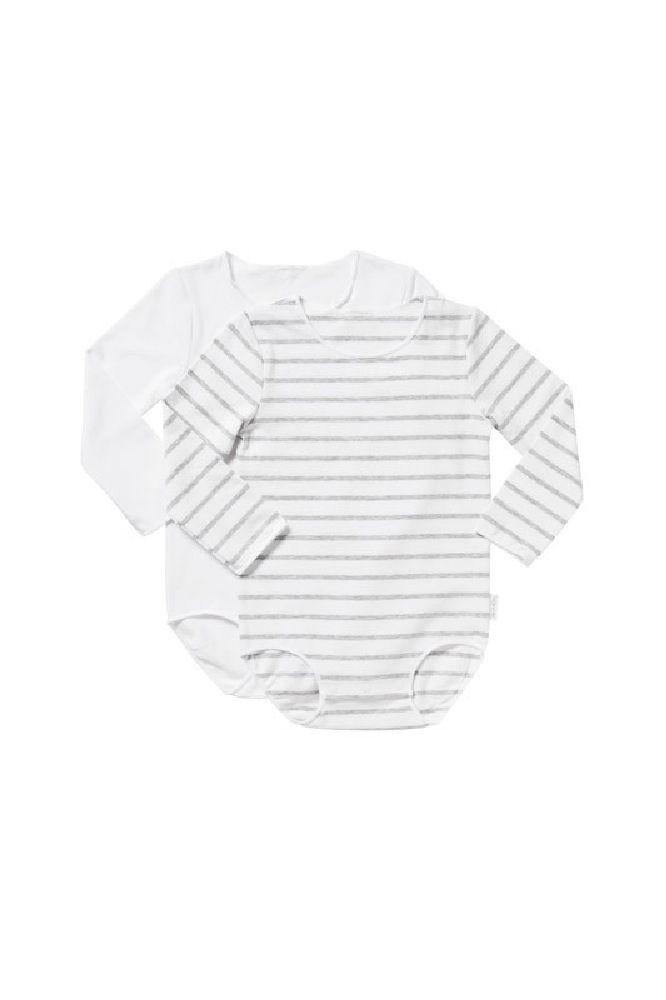 Bonds Wonderbodies Long Sleeve Grey/White 2 Pack image 0