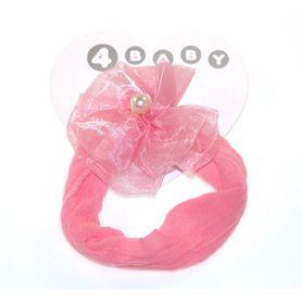 4Baby Baby Pearl Rosette Headband Pnk