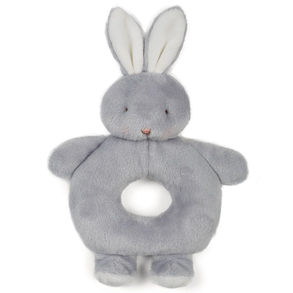 Bunnies By The Bay Ring Rattle - Grey Bunny image 0