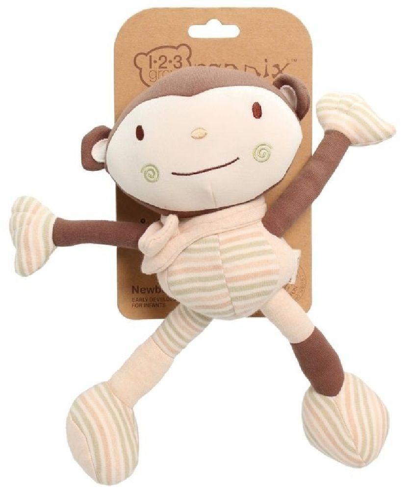 123 Grow Organix Cotton Buddy Limbo Monkey Natural