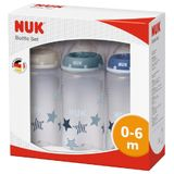 NUK First Choice Plus Bottle - Boy - 300ml - 0-6 Months - 3 Pack image 1