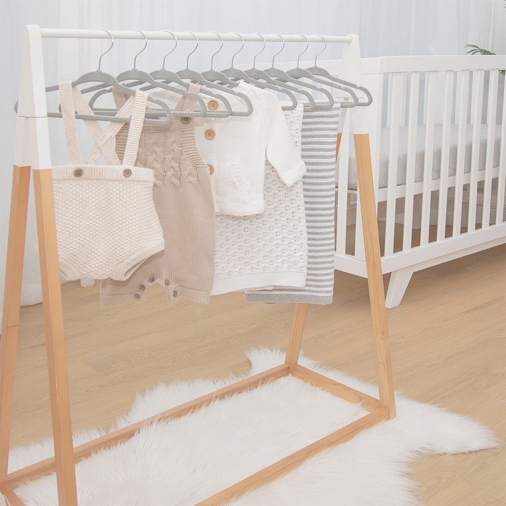 Living Textiles Coat Hanger Grey 10 Pack image 1
