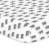 The Peanut Shell Little Adventurer Cot Fitted Sheet Bears image 0