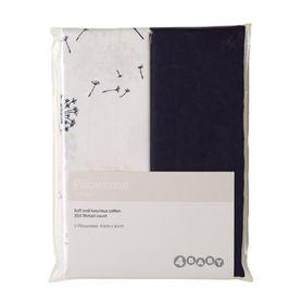4Baby Pillow Cases Dandelion/Navy 2 Pack