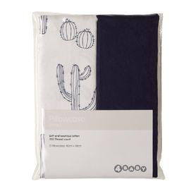 4Baby Pillow Cases Cactus/Navy 2 Pack