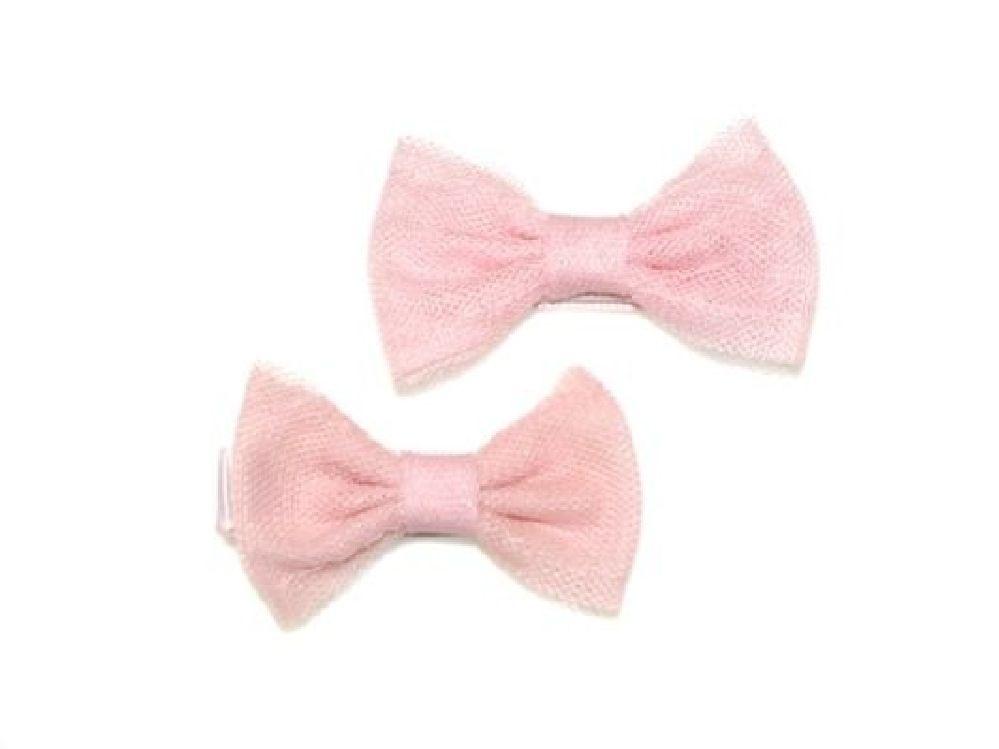 4Baby Mesh Bow Clips Pink Osfa image 0