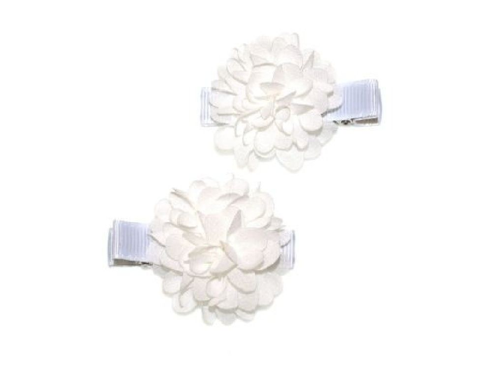 4Baby Flower Clips White Osfa image 0