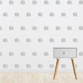 Living Textiles Wall Decal Set Grey Elephant