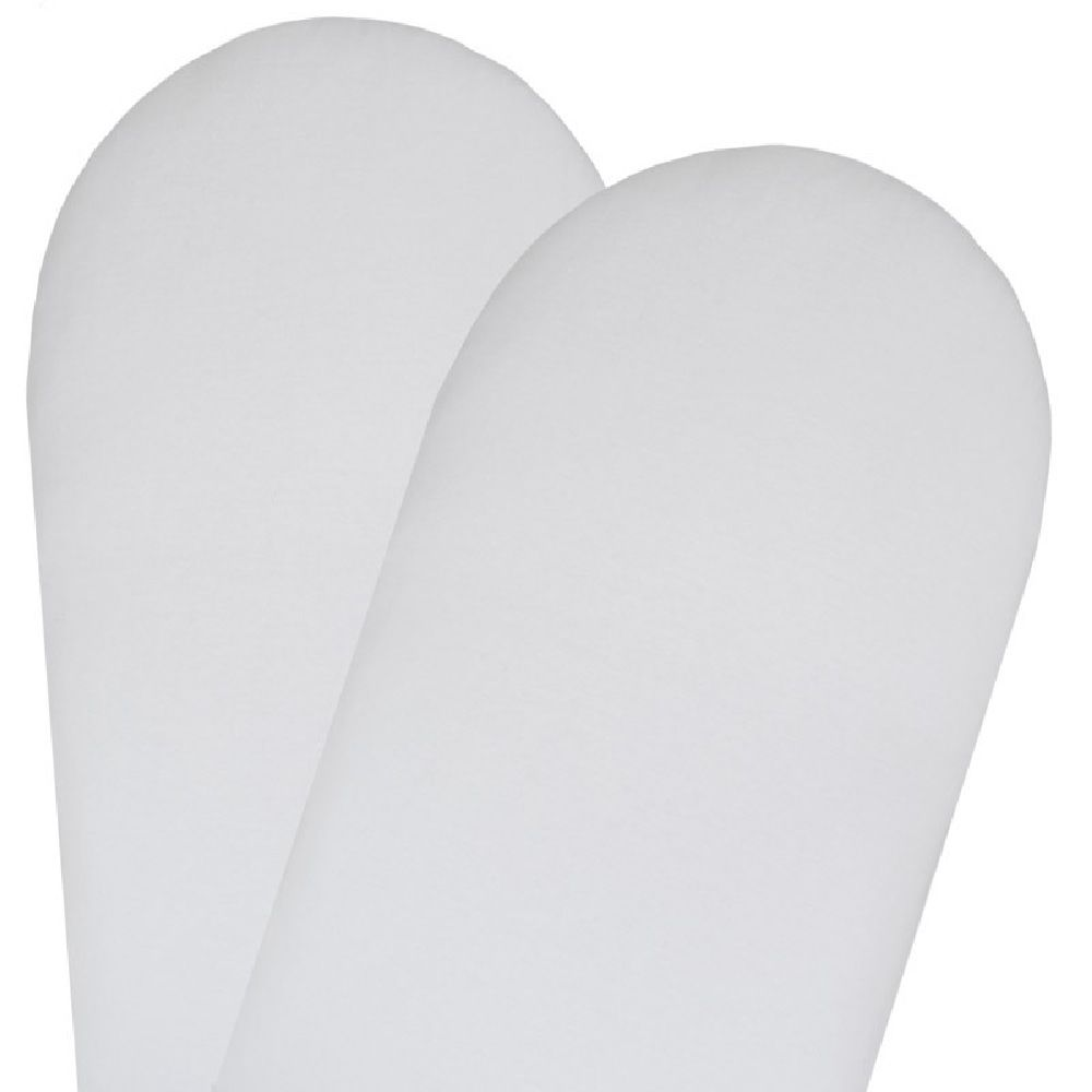 Living Textiles Jersey Moses/Pram Fitted Sheet White 2 Pack