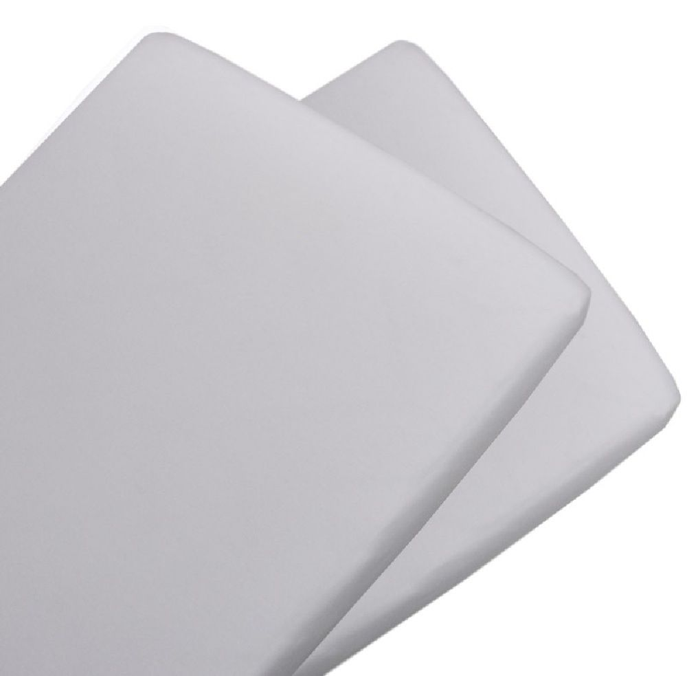 Living Textiles Jersey Bassinet Fitted Sheet White 2 Pack