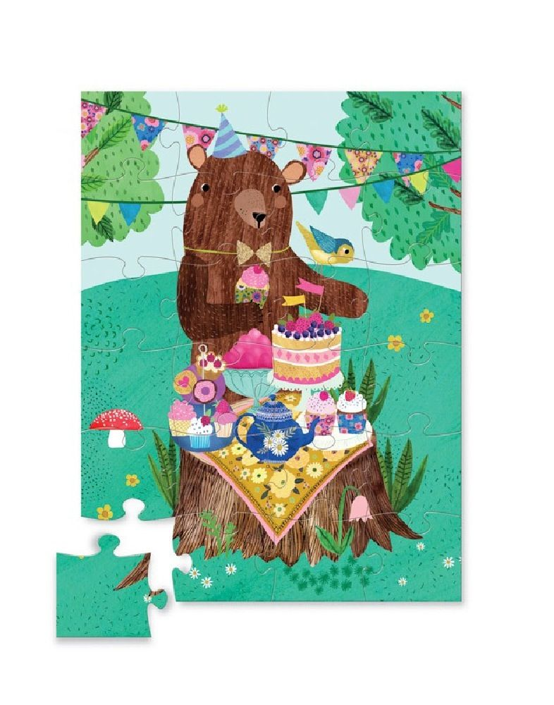 Crocodile Creek 24 Piece Mini Puzzle Birthday Bear image 0