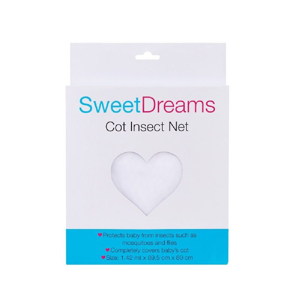 Sweet Dreams Cot Insect Net White image 1