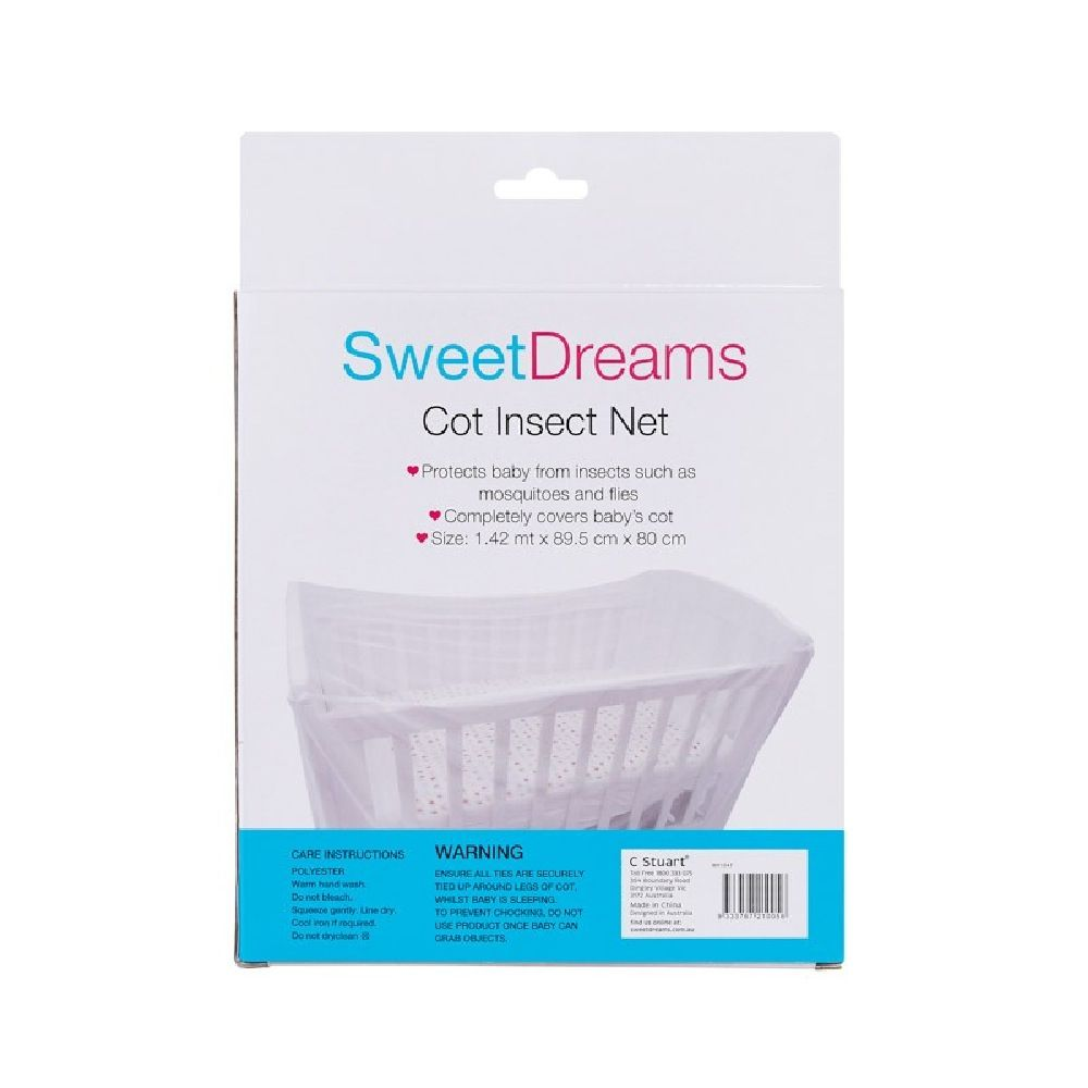Sweet Dreams Cot Insect Net White image 2