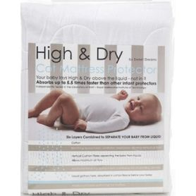 High & Dry Mattress Protector Cot White