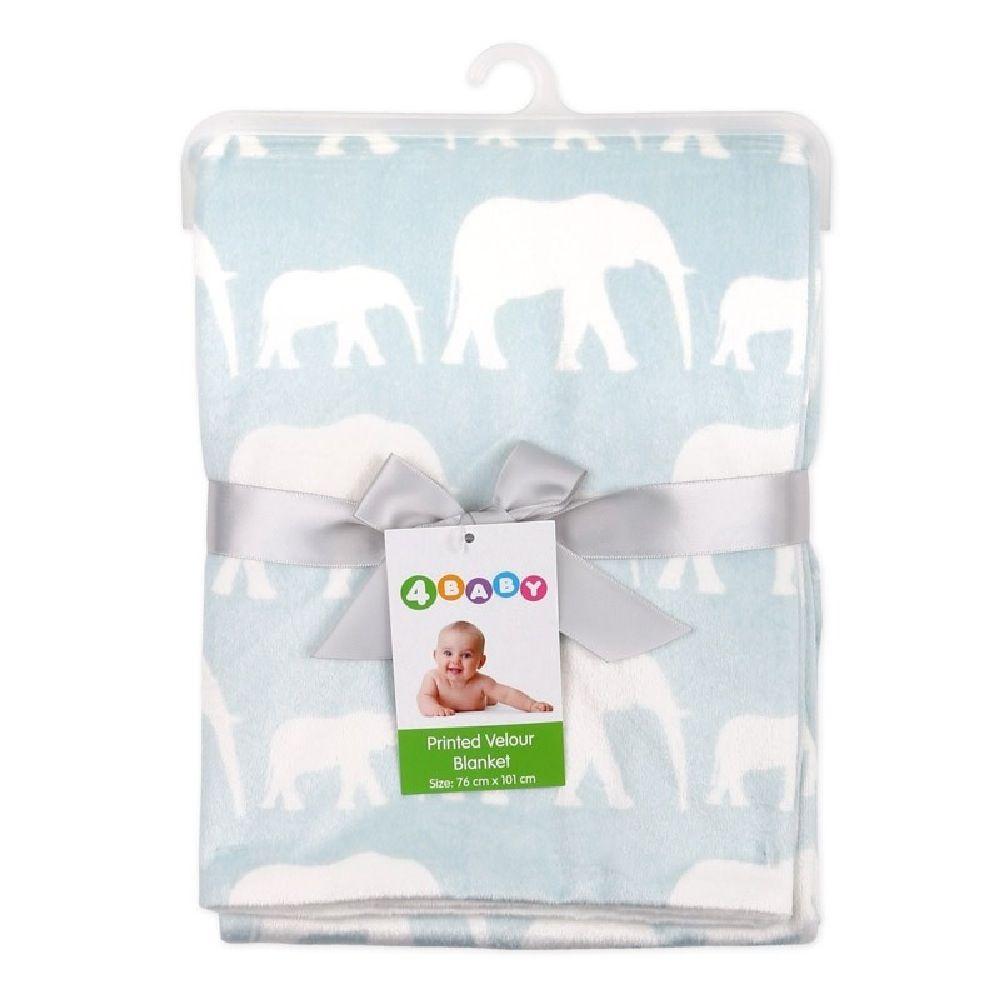 4Baby Velour Blanket Elephant image 1