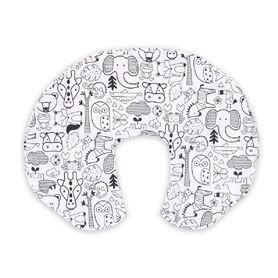 4Baby Nursing Pillow Cover Safari Black & White