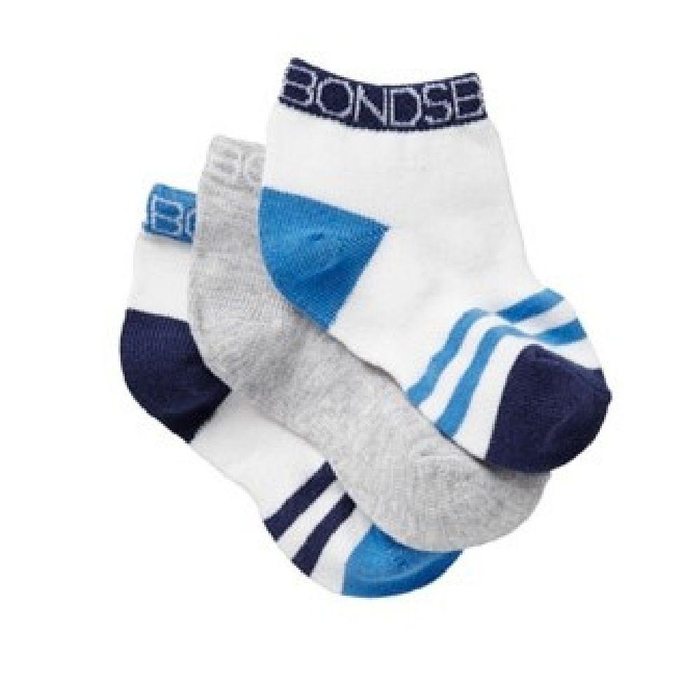 Bonds Sock Sportlet Blue 3 Pack image 0