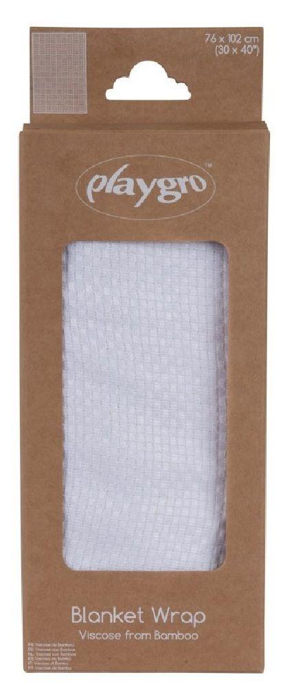 Playgro Bamboo Blanket Basket Weave White image 2