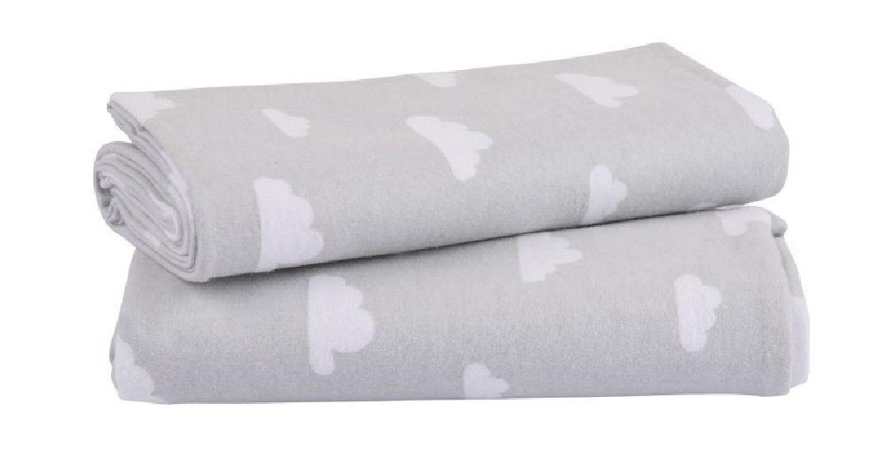 Playgro Flannelette Wrap Grey/White 2 Pack
