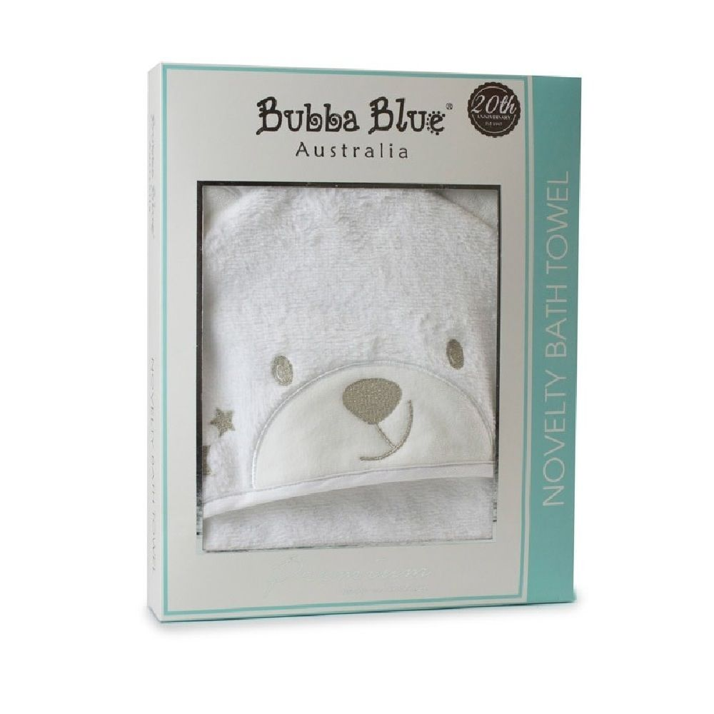 Bubba Blue Wish Upon A Star Novelty Bath Towel White image 1