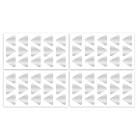 4Baby Wall Decal Triangles Silver