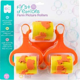First Creations Farm Picture Rollers Set Of 3