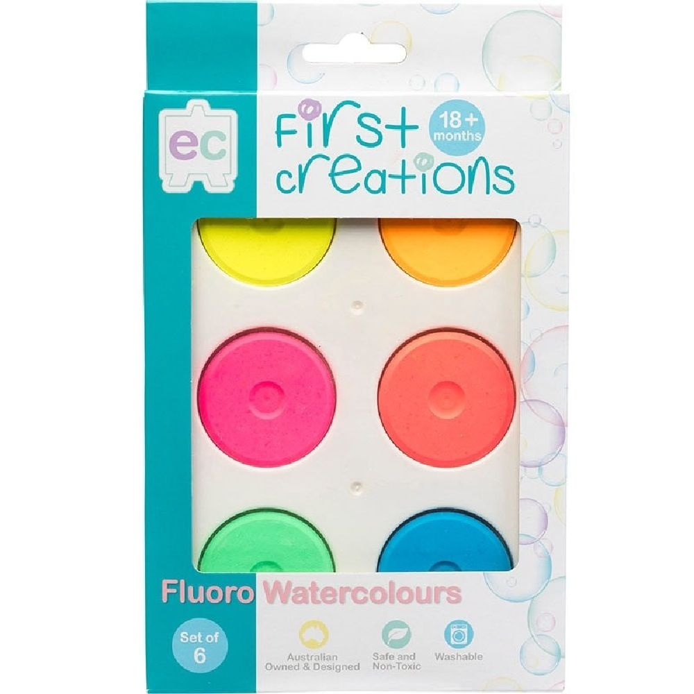 First Creations Fluoro Watercolours Set Of 6 image 1