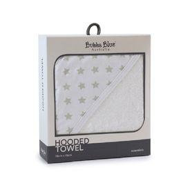 Bubba Blue Essentials Hooded Towel Grey
