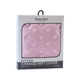 Bubba Blue Essentials Sherpa Change Pad Cover Pink